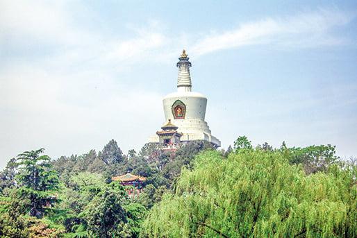 五台山寺院林立,位列中國佛教四大名山之首。(螺釘/Wikimedia Commons)