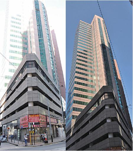 圖為中國創新投資位於本港的大樓。(中央社)