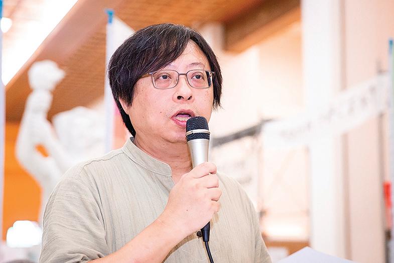 台灣中正大學傳播學系訪問學者、中國問題專家曾建元(資料照)。(陳柏州/大紀元)