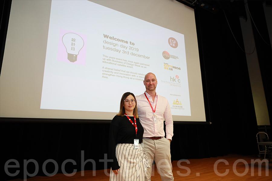 啟新書院視覺藝術科老師Stacey Leung(左)與設計科老師Boyd Jerman(右)。(陳仲明/大紀元)
