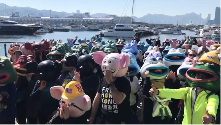 【12.8反暴政】國際人權日大遊行 「城寨」卡通巡演帶來驚喜