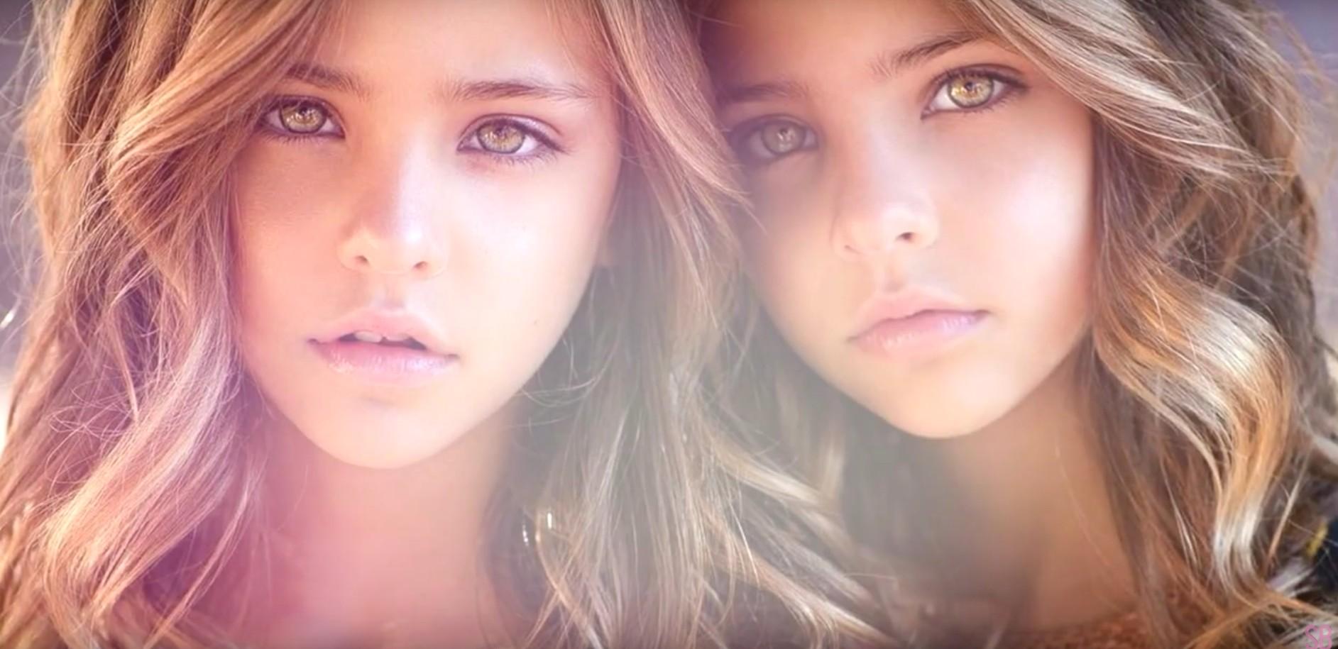 一對年僅9歲的雙胞胎姐妹,長得宛如天使般美麗,還被網友稱為「世界上最美麗的雙胞胎」!短短1年在Instagram就擁有140萬的粉絲。(影片截圖)