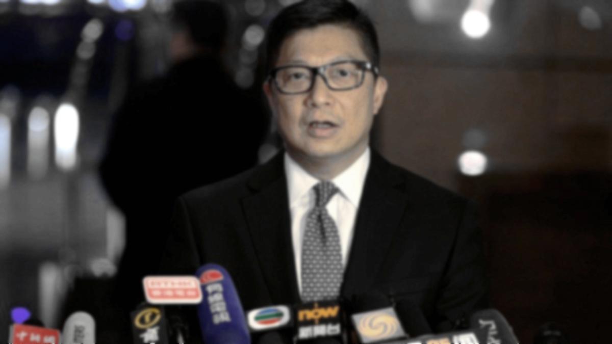 鄧炳強聲稱,香港警隊的工作得到肯定,中共繼續支持警隊「止暴制亂」。(影片截圖)