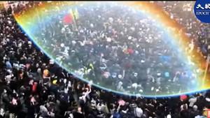 香港驚現神奇「天眼」俯瞰80萬人大遊行