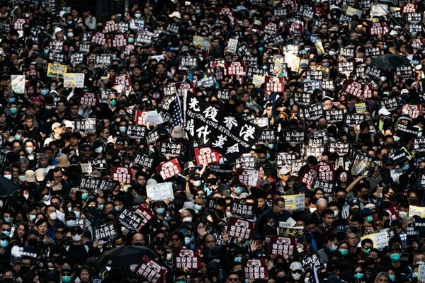 2019年12月8日,80萬港人舉行守護香港大遊行。(Anthony Kwan/Getty Images)