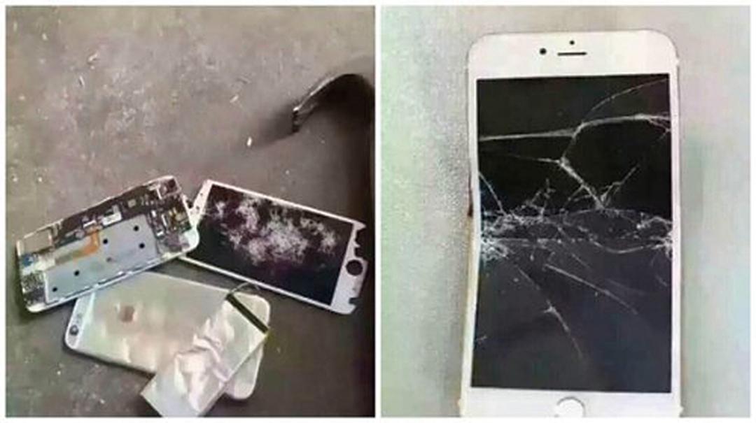 裁決過後,大陸民間憤慨異常,甚至出現「砸iPhone」潮。(網絡圖片)