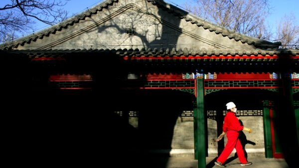 有北京紅二代透露,北京曾想送林鄭一套四合院,被她拒絕,因為她也不想兒子、老公留在大陸被北京控制。(China Photos/Getty Images)