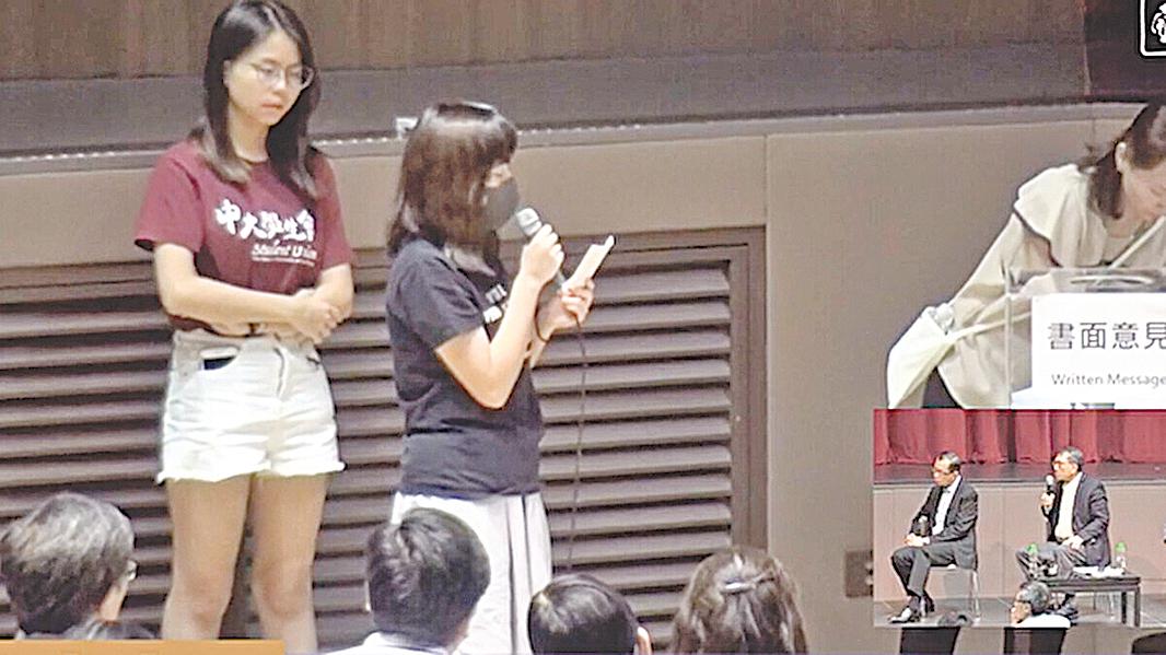 10月10日晚,曾被捕的香港中文大學女生吳傲雪(Sonia)控訴自己在葵涌警署曾遭遇性暴力。(影片截圖)