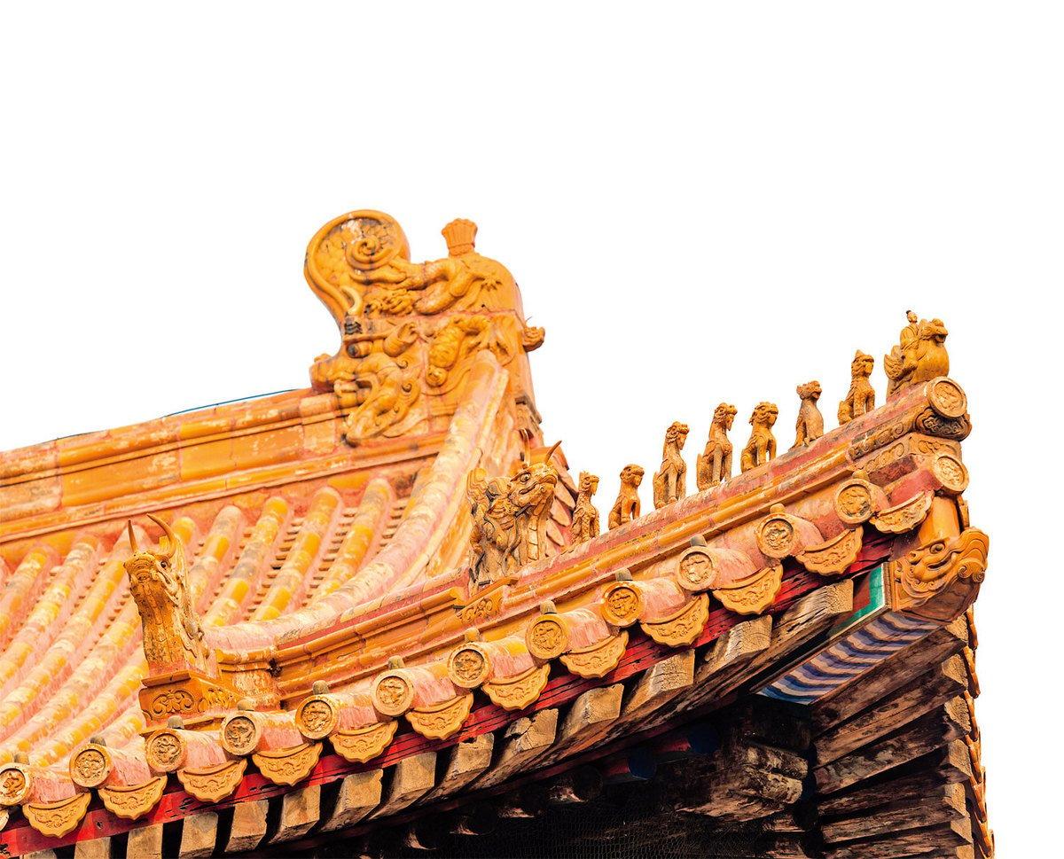 重德向善的道德理念在中國古建築中隨處可見。圖為北京故宮建築屋簷上的神仙和野獸。(Shutterstock)