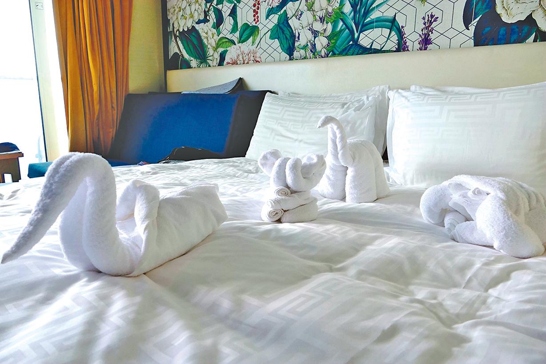 用毛巾折出的小動物們讓你心情愉悅。