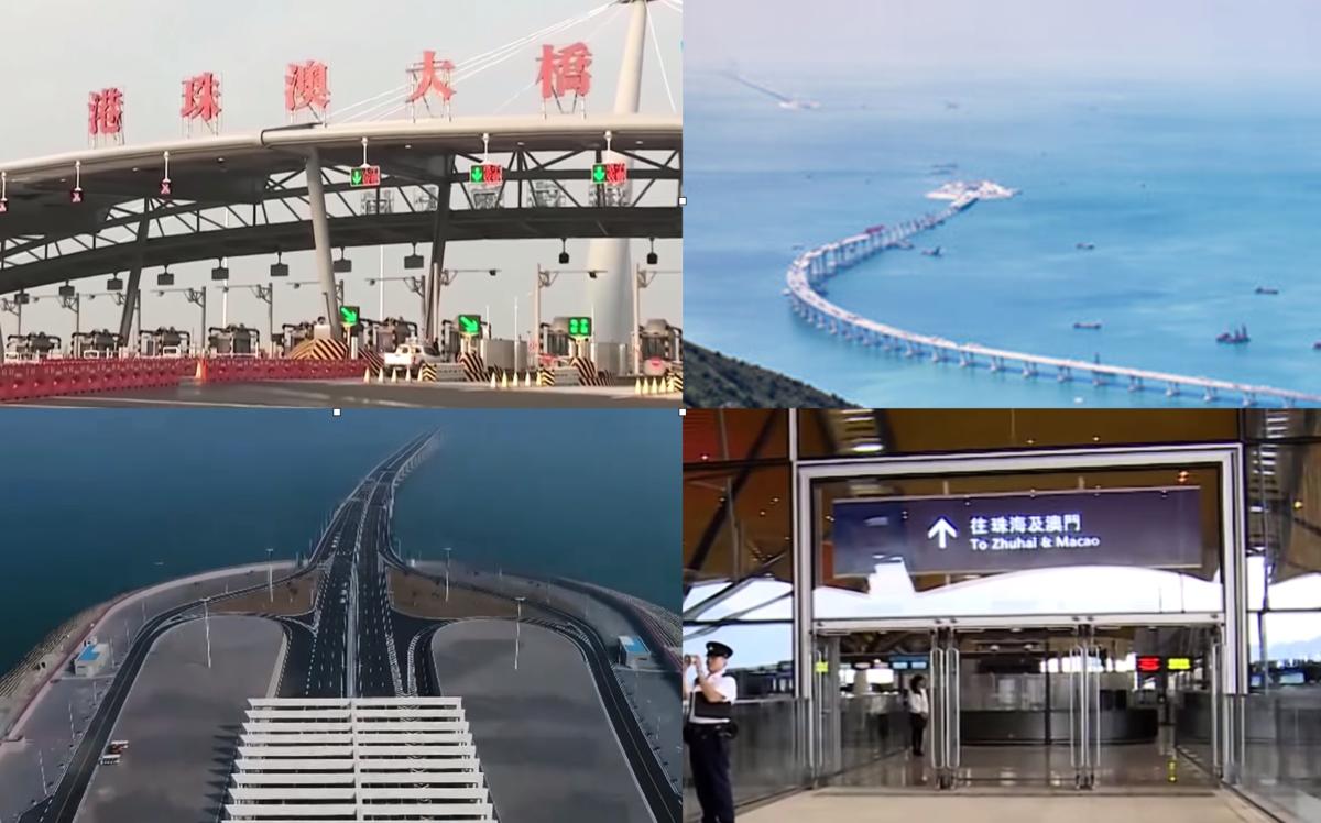 港珠澳大橋人工島  (影片截圖)
