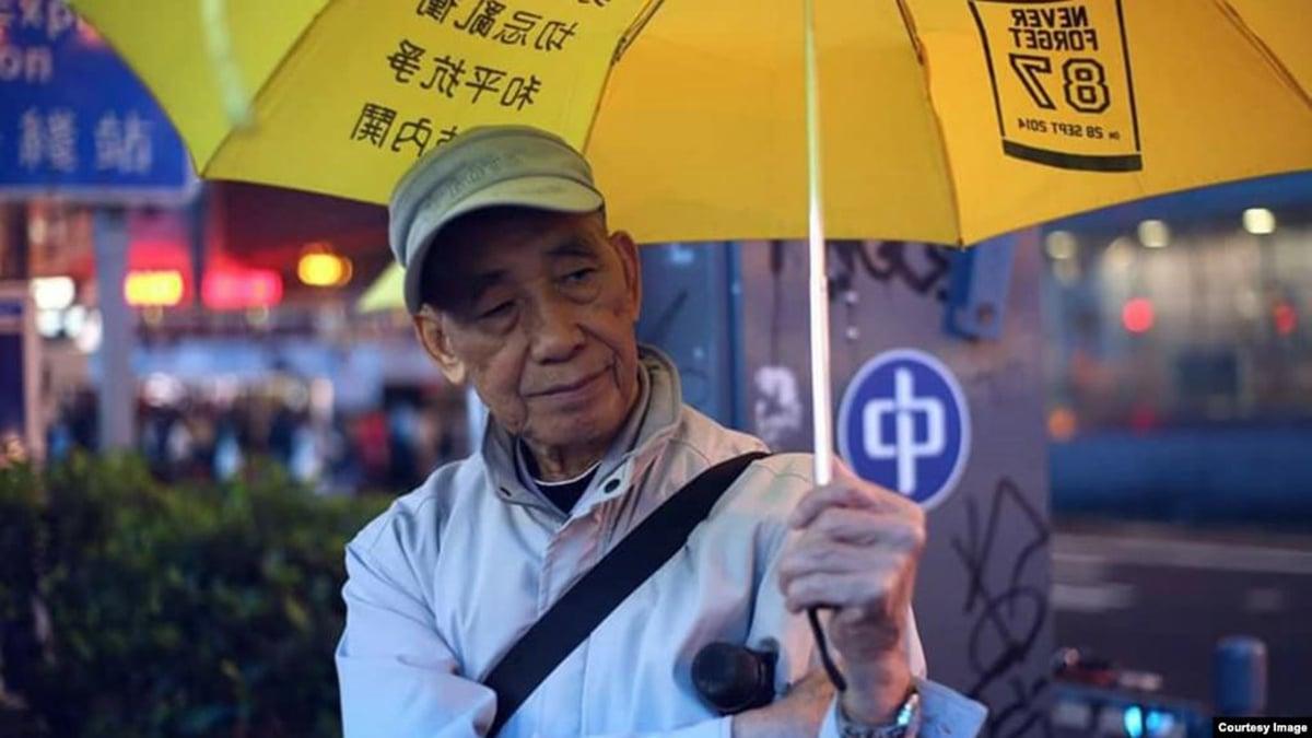 83歲香港老人「為下一代自由撐下去」,留守旺角1800多天。(美國之音)
