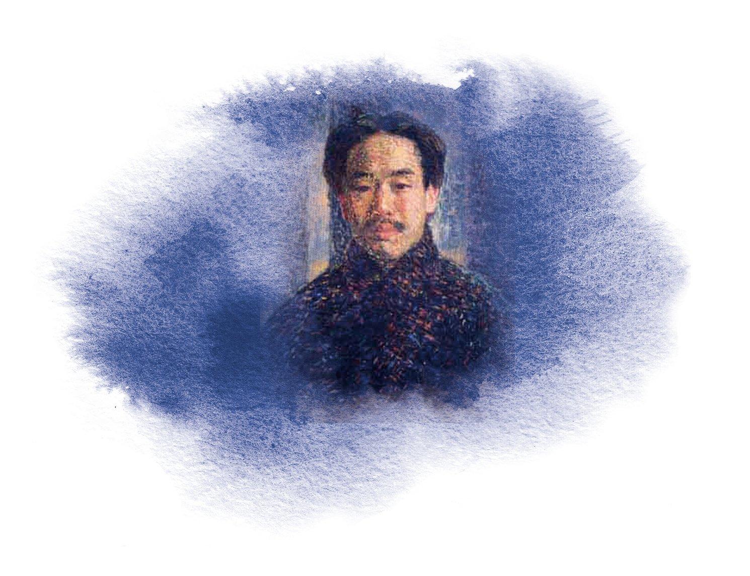 李叔同畫像。(公有領域)