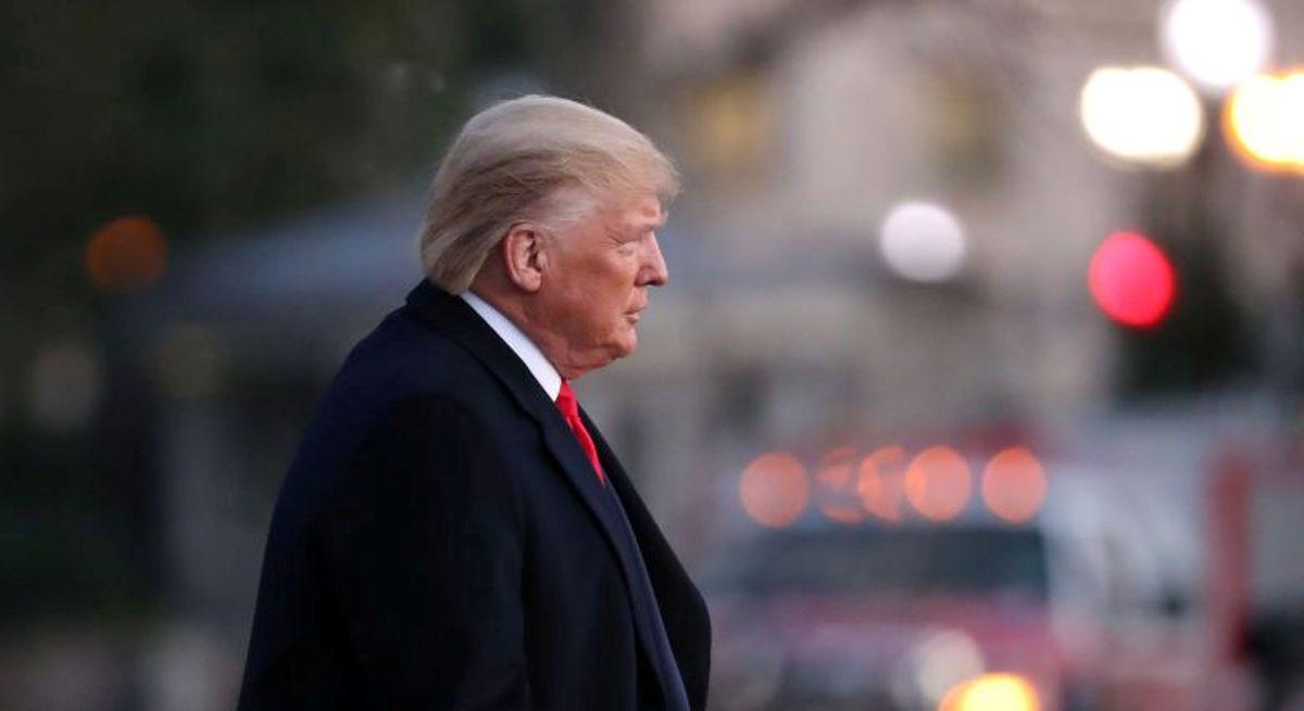 美國總統唐納德・特朗普2019年12月18日正離開白宮,準備前往密歇根州出席競選活動。(Mark Wilson/Getty Images)