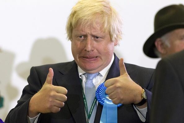 英國外交大臣約翰遜已放棄其美國公民資格。(JUSTIN TALLIS/AFP/Getty Images)