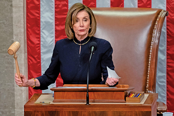 美眾院通過彈劾特朗普兩罪名