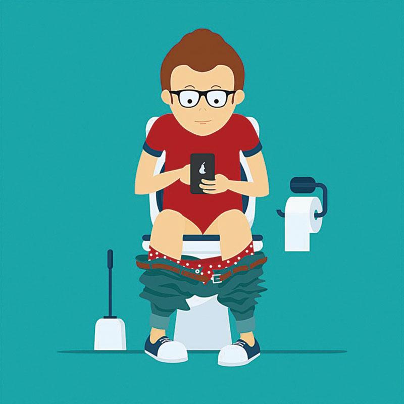 上廁所時滑手機當心得痔瘡