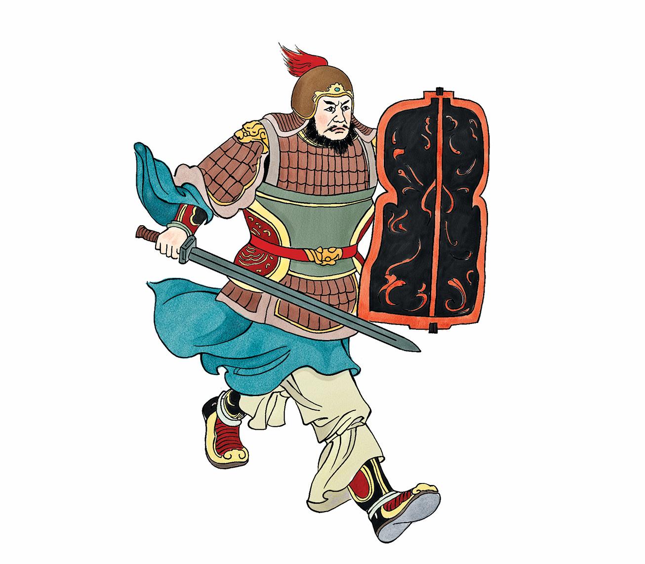 ▲ 鴻門宴上,樊噲闖進大帳,打破了項莊舞劍的僵局。