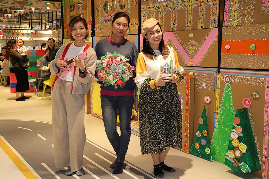 日營「奇趣藝遊糖果薑餅村」由環保手作達人Busymama、親子主題餐廳Kidskiss Kingdom及Orff4Kids合作舉辦。(陳仲明/大紀元)