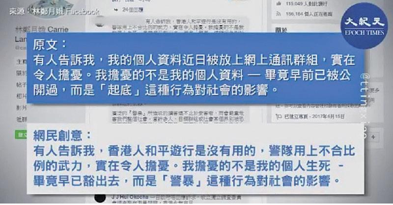 林鄭臉書發文 網民創意回應