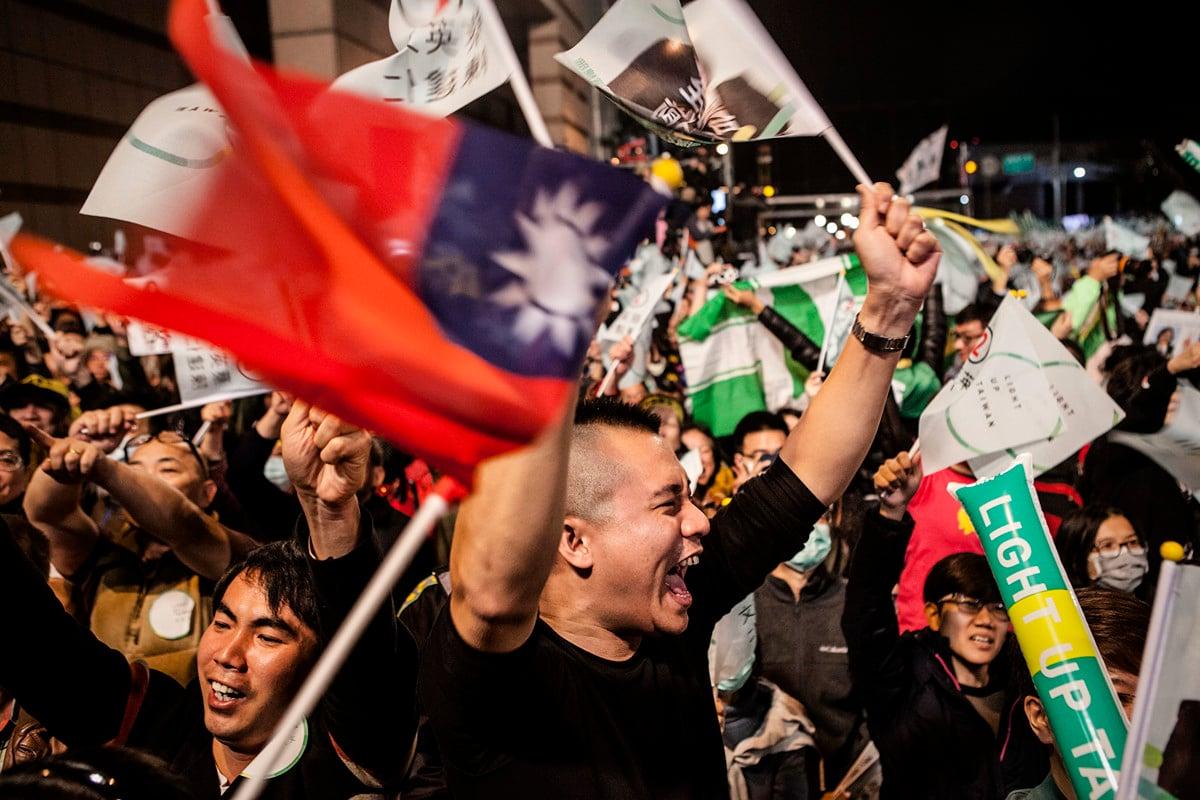 台灣2020總統大選,當局謹防中共勢力介入,美國會亦通過《國防授權法案》反制中共干預。(Getty Images)