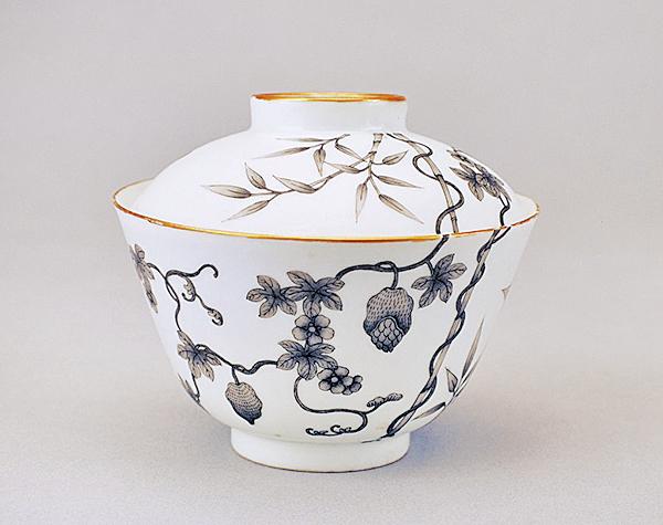墨彩籟瓜紋蓋碗(公有領域)