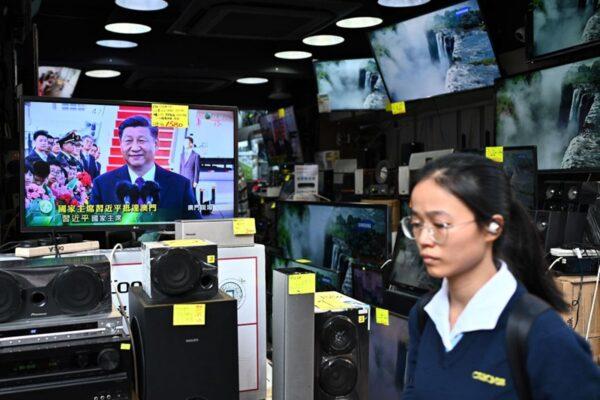 習近平訪問澳門,當地政府如臨大敵。(PHILIP FONG/AFP via Getty Images)