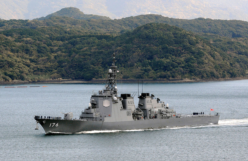 示意圖。圖為,2012年12月6日,日本海上自衛隊配備神盾艦。(JIJI PRESS/AFP via Getty Images)