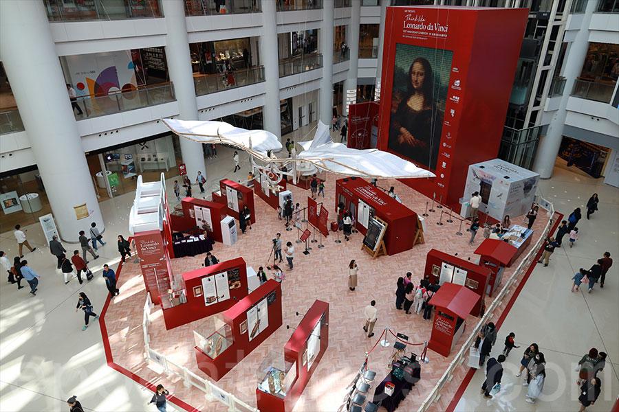 全亞洲首個達文西大型藝術展覽「想‧像達文西500週年展」在奧海城展出。(陳仲明/大紀元)