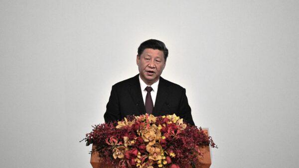 12月20日是澳門主權移交北京20周年,習近平致辭時出現口誤。( PHILIP FONG/AFP via Getty Images)
