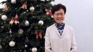 林鄭發短片賀聖誕被灌爆 4小時遭貼5千怒臉