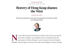 《泰晤士報》評論:港人高素質 令西方汗顏