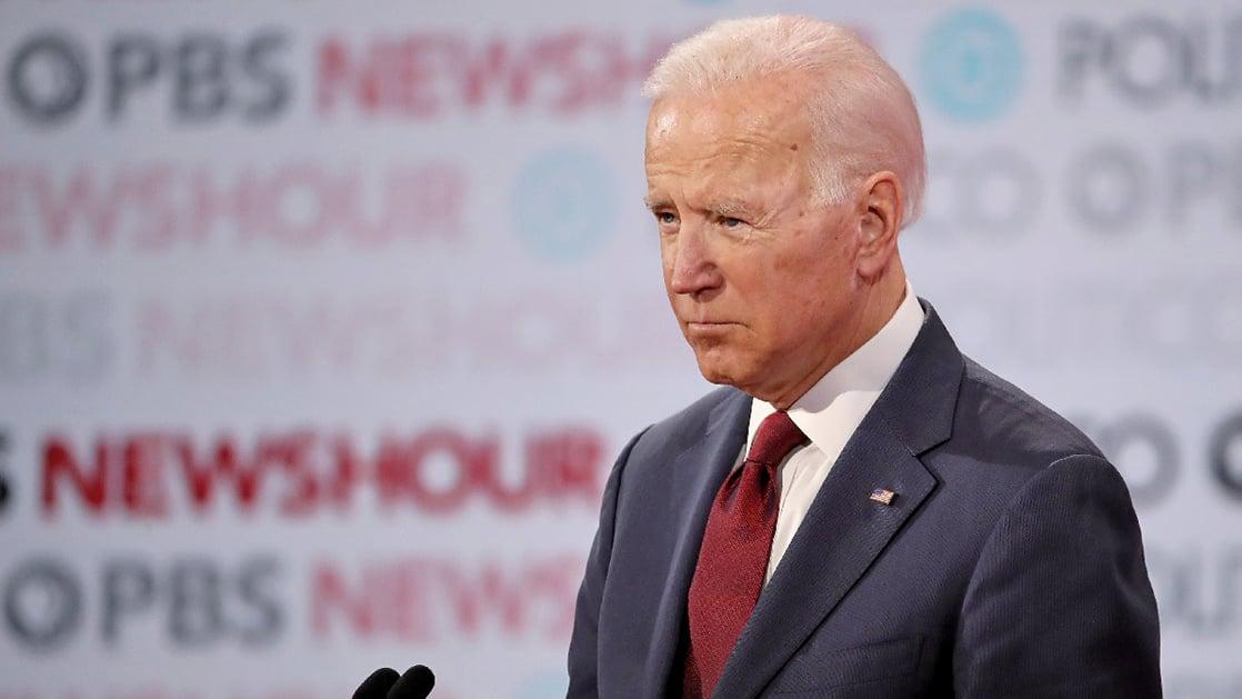 圖為前美國副總統、2020年民主黨總統候選人拜登(Joe Biden)。(Getty Images)