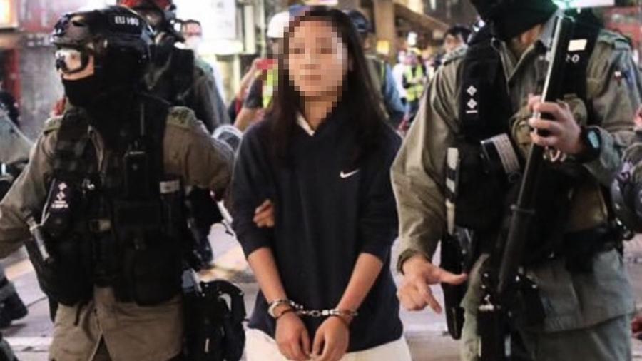 14歲抗爭少女:願以個人犧牲換取香港自由