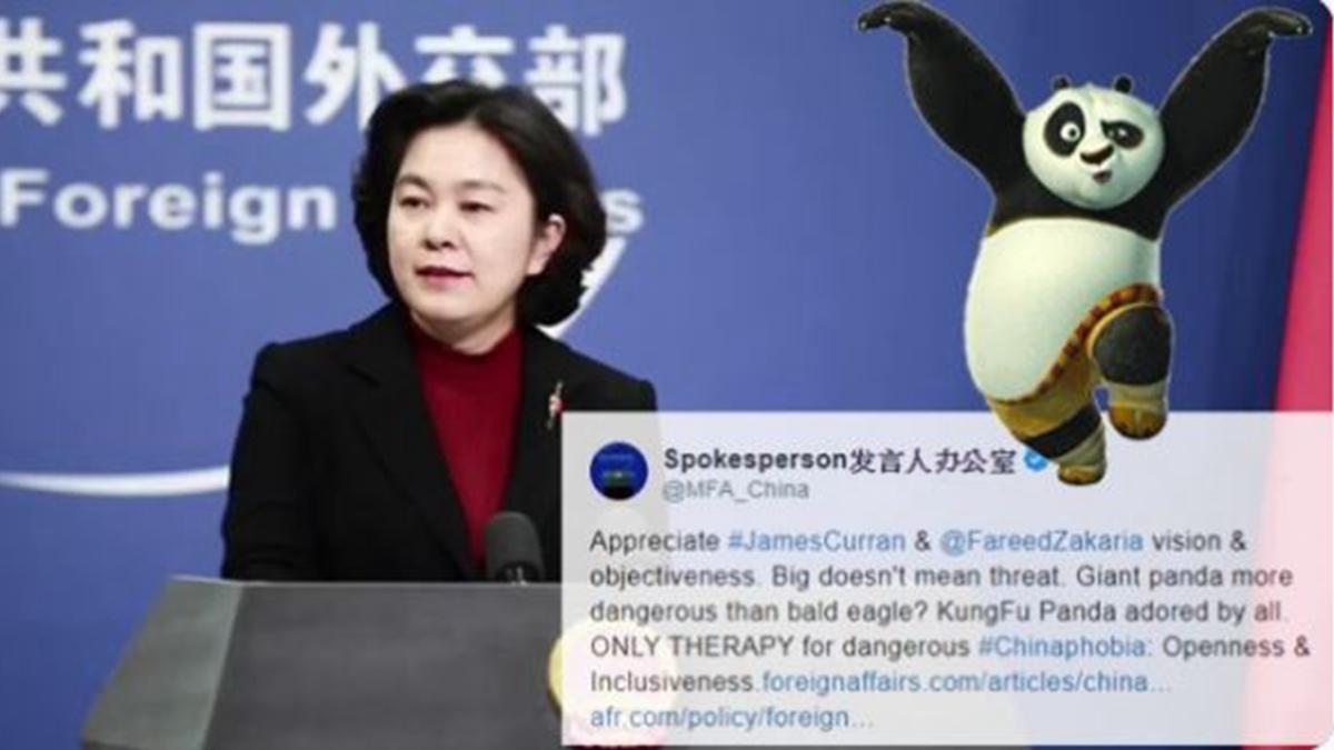中共外交部學特朗普發推特 ,慘遭網友炮轟。(推特截圖)