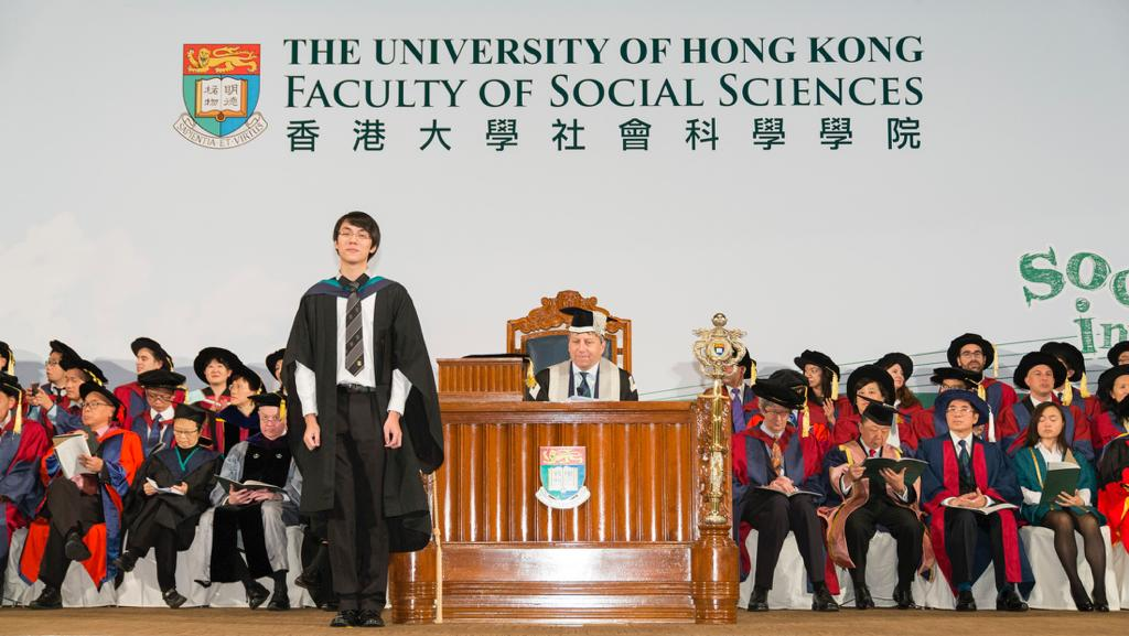 Derek於香港大學社會科學學院取得一級榮譽學位。(受訪者提供)