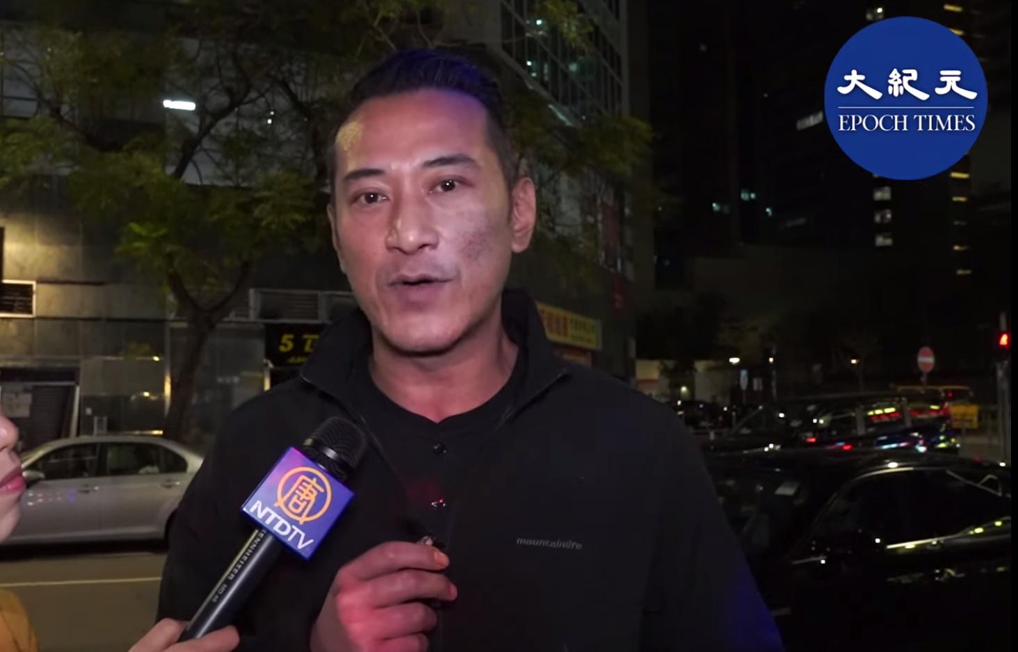「霸氣哥」為12月26日的石門音樂會接受採訪  (影片截圖)