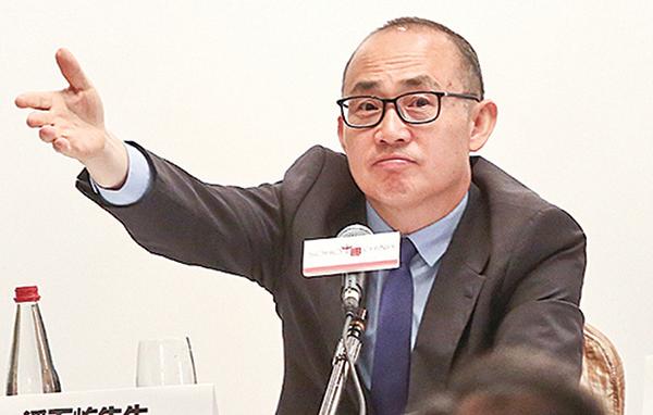 潘石屹(圖)控制的SOHO中國擬以80億美元甩賣中國境內的八大辦公樓,引外界驚呼「潘石屹要跑了!」。(AFP)