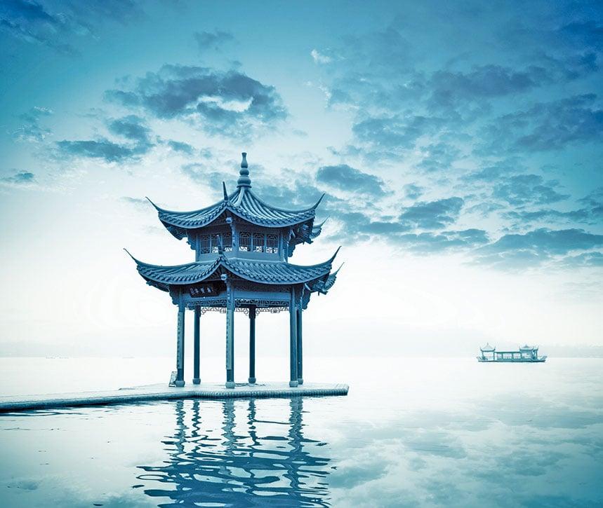 中國杭州西湖景區的湖心亭。(Fotolia)