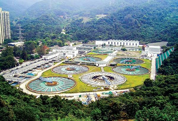 香港沙田濾水廠。(Wikipedia)