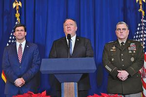 美軍空襲伊朗支持的軍事基地
