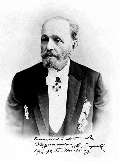 法裔俄羅斯著名編舞家莫里斯珀蒂帕,1890年代拍攝。(公有領域)