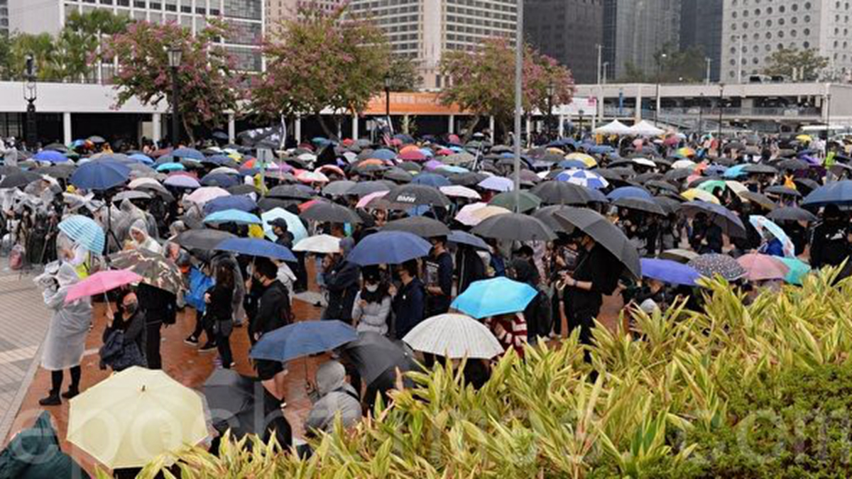 2019年12月29日,香港網民在愛丁堡舉行香港人抗爭的日與夜集會。(宋碧龍/大紀元)