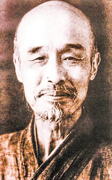 李叔同出家後法名演音,號弘一,晚號晚晴老人。圖為弘一大師晚年照片。(公有領域)