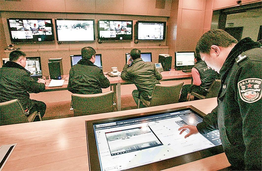 華為產品廣泛用於監控中國民眾的「金盾工程」項目中。中共已經把中國變成了一個「大監獄」,這在美國等西方國家看來,就是「國家恐怖主義」。(大紀元資料室)