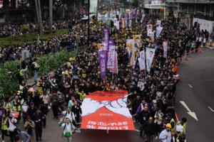新年民陣大遊行 黃色商舖踴躍參與