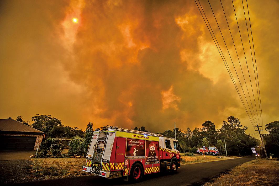 澳洲大火肆虐,自2019年9月以來,山火焚燬逾525萬公頃林地,面積比一個哥斯達黎加還大。(Getty Images)