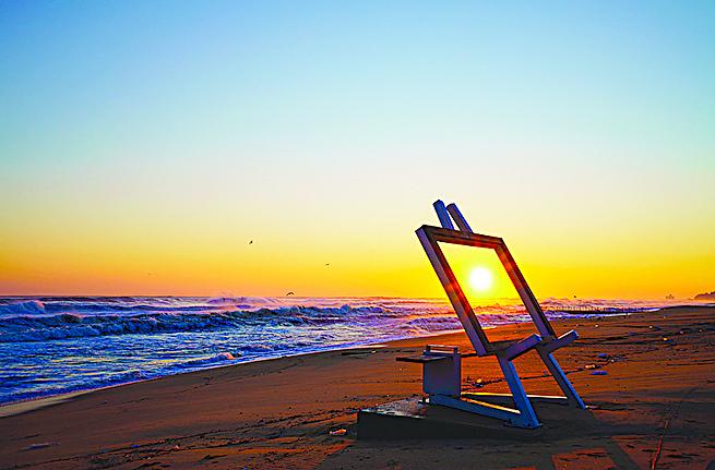 鏡浦海邊日出