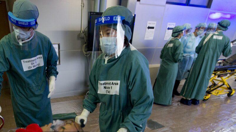 示意圖:一名曾到過武漢的香港女子感染肺炎,正在屯門醫院求醫並被隔離(aaron tam/AFP/GettyImages)