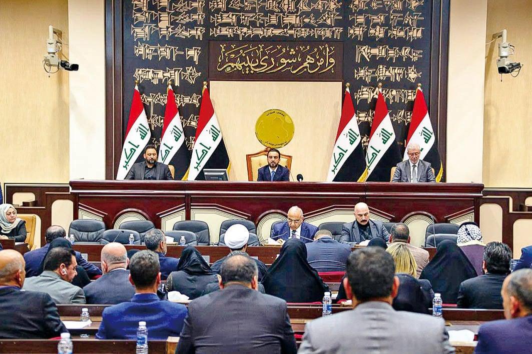 1月5日,伊拉克國會通過決議案,要求政府終結美國等外國在伊拉克駐軍。兩天前,美國在巴格達狙殺了伊朗革命衛隊聖城部隊指揮官蘇萊曼尼。(AFP)